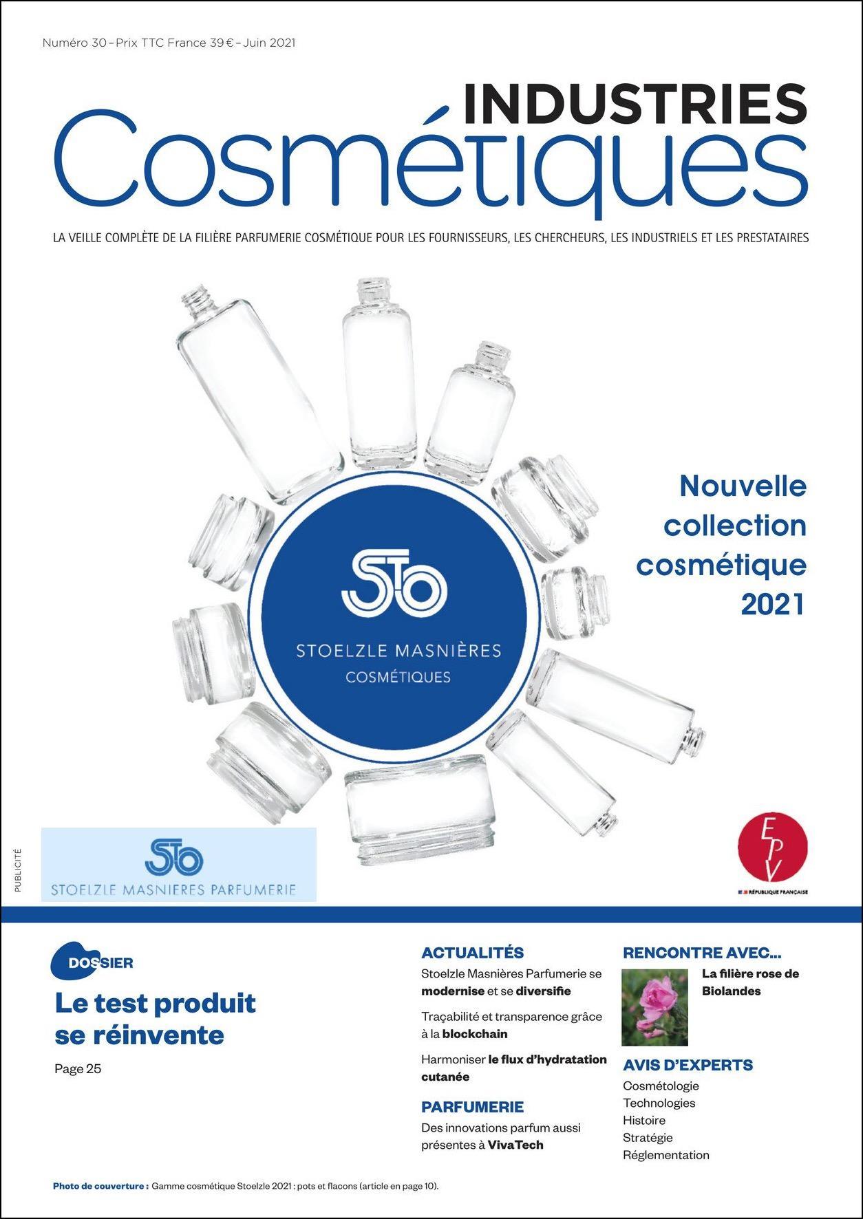 Couverture Industries Cosmétiques 30 juin 2021
